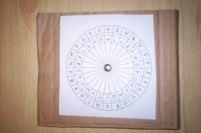graphic relating to Printable Cipher Wheel called How towards Make a Cipher Disk