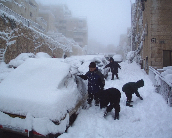 Snow in Jerusalem, 28 ...